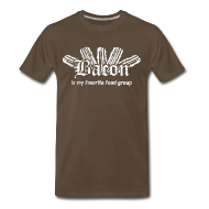 T-Shirts ~ Men's Premium T-Shirt ~ Bacon is my Favorite Food Group Shirt