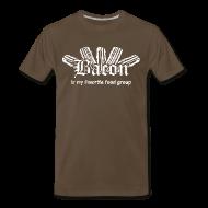 T-Shirts ~ Men's Premium T-Shirt ~ Bacon is my Favorite Food Group Shirt