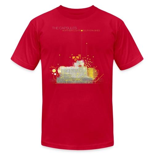 Northern Lights T-Shirt - AA - Light Blue - Men's Fine Jersey T-Shirt