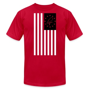 America Proper Black - Men's Fine Jersey T-Shirt