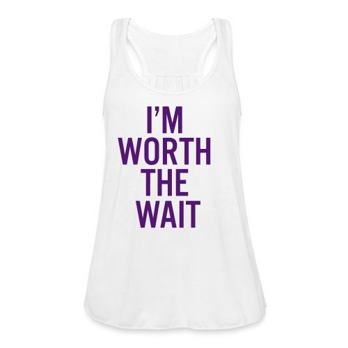 Ladies I'm Worth The Wait Flowy Tank Charlotte Hornets Edition - Women's Flowy Tank Top by Bella