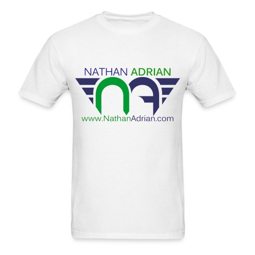Logo/Website on Front, Nothing on Back - Men's T-Shirt