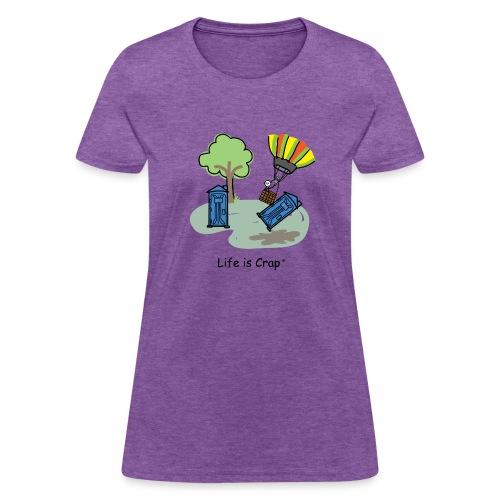 Ballooning Porta Potty  - Womens Classic T-Shirt - Women's T-Shirt
