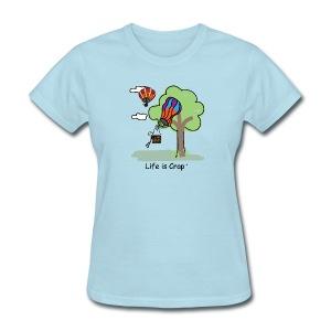 Ballooning Tree Crash  - Womens Classic T-Shirt - Women's T-Shirt