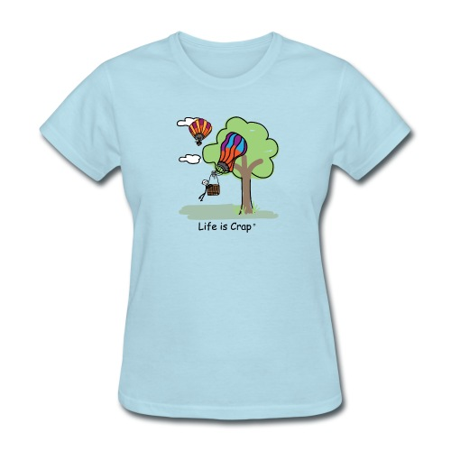 Ballooning Tree Crash  - Womens Classic T-Shirt - Women's T-Shirt