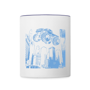 Flying Monster Truck - Contrast Coffee Mug