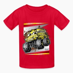 Cool Monster Bus Kids' Shirts