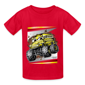 Cool Monster Bus - Kids' T-Shirt