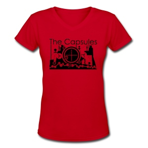 Super Symmetry T-Shirt - AA - Ladies Red - Women's V-Neck T-Shirt