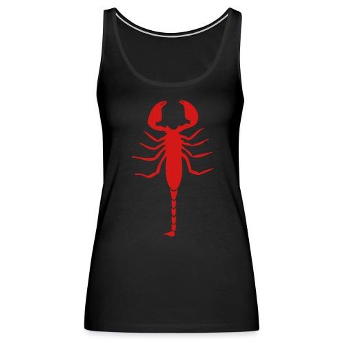 Scorpion (Red) - Women's Premium Tank Top