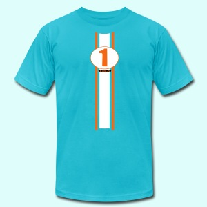 number one - Men's T-Shirt by American Apparel