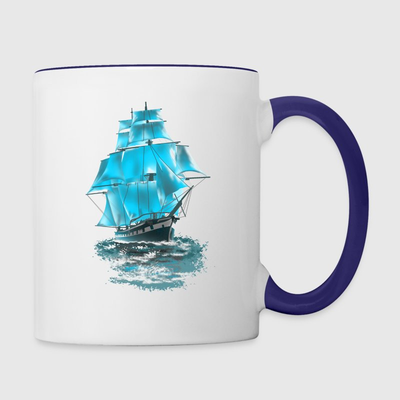 sailing ship Bottles & Mugs - Contrast Coffee Mug