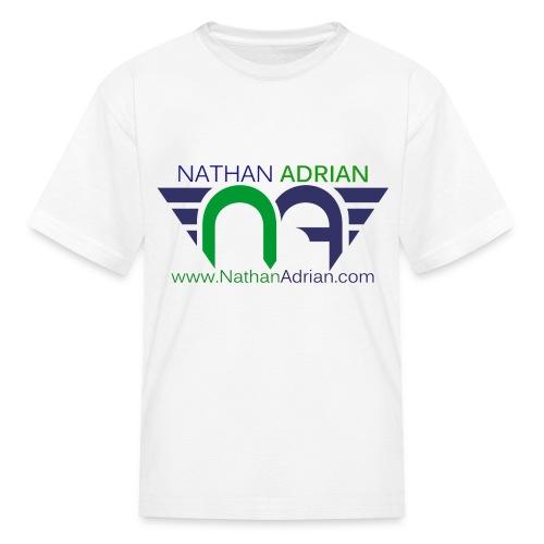 Logo/Website on Front, Nothing on Back. - Kids' T-Shirt