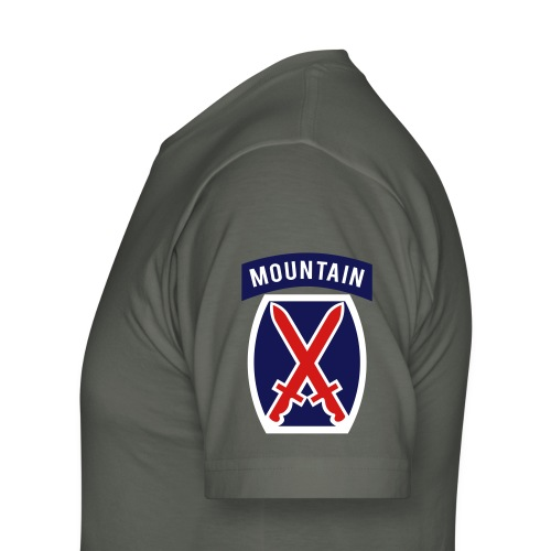 10th Mountain  - Men's T-Shirt by American Apparel