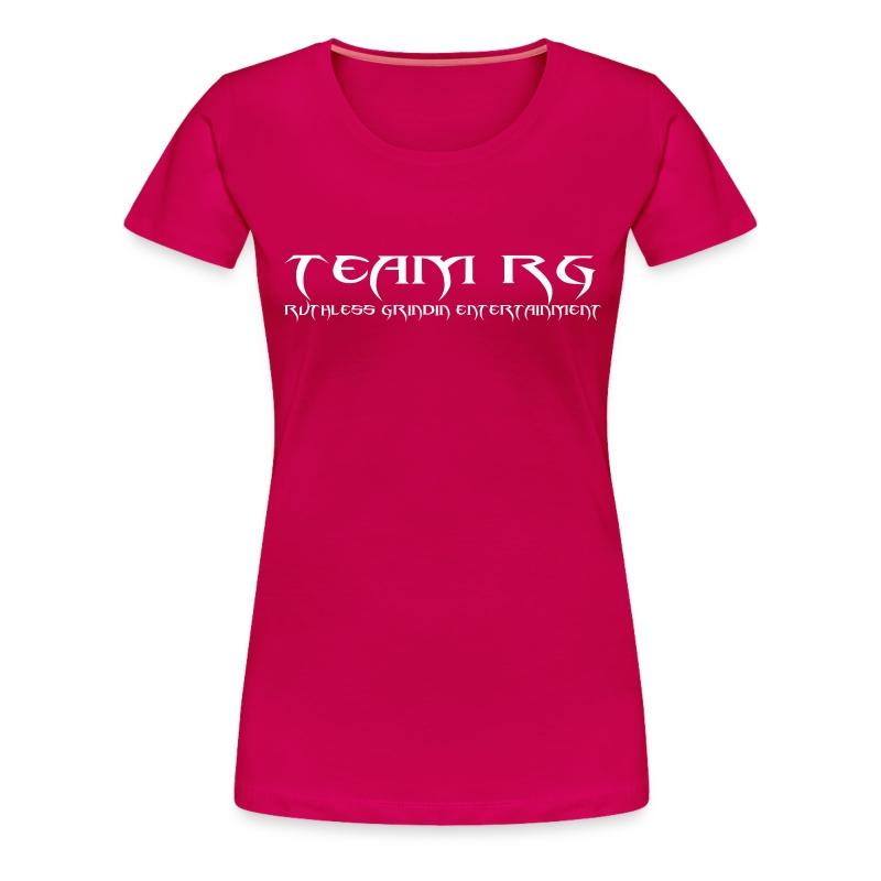 TEAM RG Woman ANAGRAM Dark Pink T-SHIRT W/ White Letters T-Shirt ...