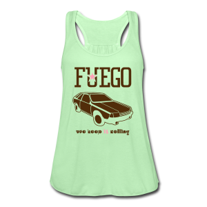 Rogue Fuego With (Brown/Pink) - Women's Flowy Tank Top by Bella