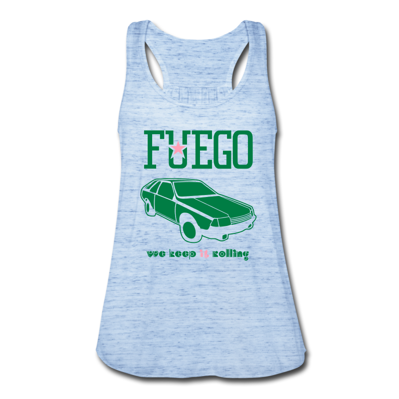 Rogue Fuego With (Green/Pink) - Women's Flowy Tank Top by Bella