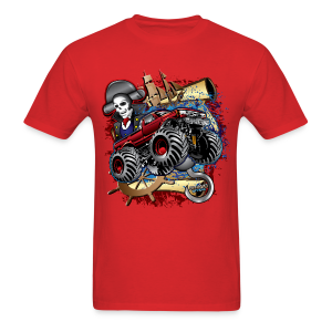 Monster Pirate Truck - Men's T-Shirt