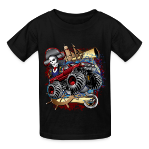 Monster Pirate Truck - Kids' T-Shirt