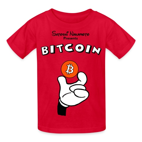 Kids Mickey Holding Bitcoin T Shirt - Kids' T-Shirt