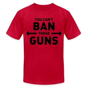 You can't ban these guns - Men's T-Shirt by American Apparel
