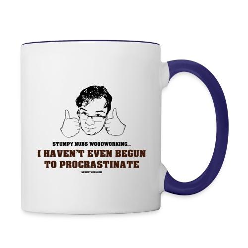 Procrastinate Mug - Contrast Coffee Mug