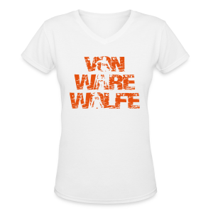 Von Ware Wolfe - Ladies - V-Neck - Women's V-Neck T-Shirt