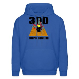 Men's Ten Pin Bowling Hooded Sweatshirt - Men's Hoodie