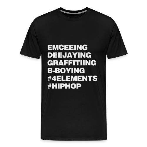 #4ELEMENTS #HIPHOP - Men's Premium T-Shirt