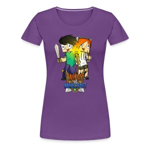 Women's Premium T-Shirt: Wifey vs Minecraft - Women's Premium T-Shirt