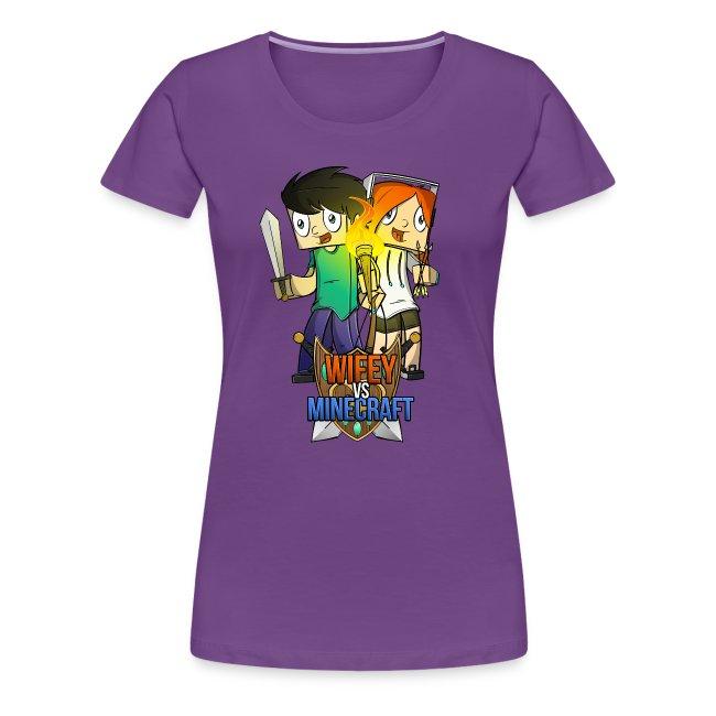 Women's Premium T-Shirt: Wifey vs Minecraft