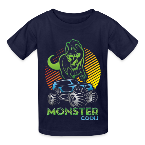 Kids Dinosaur Monster Truck - Kids' T-Shirt