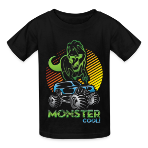 Kids Dinosaur Monster Truck - Kids' T-Shirt
