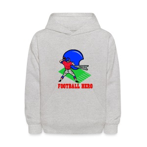 Kid's Football Hero Hooded Sweatshirt - Kids' Hoodie