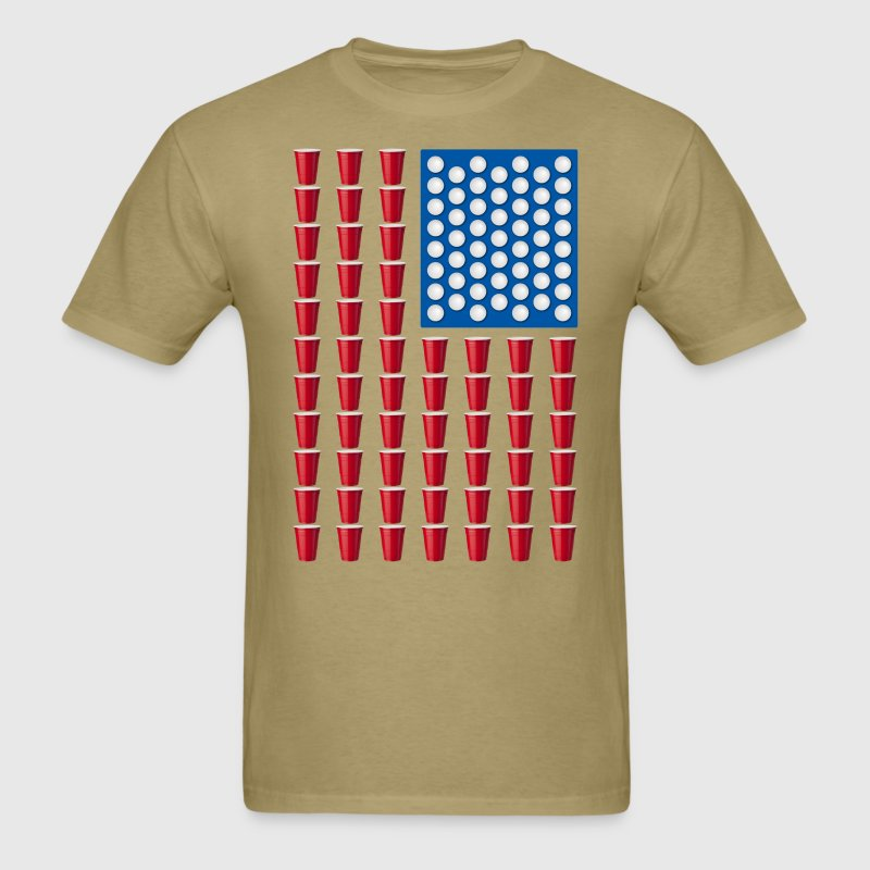 Groovy Beer Pong Drinking Game American Flag T Shirt Spreadshirt Hairstyles For Men Maxibearus