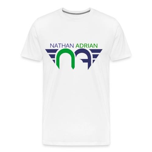 Logo on Front, Website on Back - Men's Premium T-Shirt