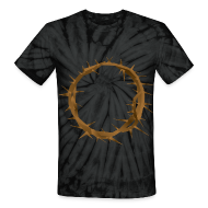 T-Shirts ~ Unisex Tie Dye T-Shirt ~ Hidden thorn crown of Jesus