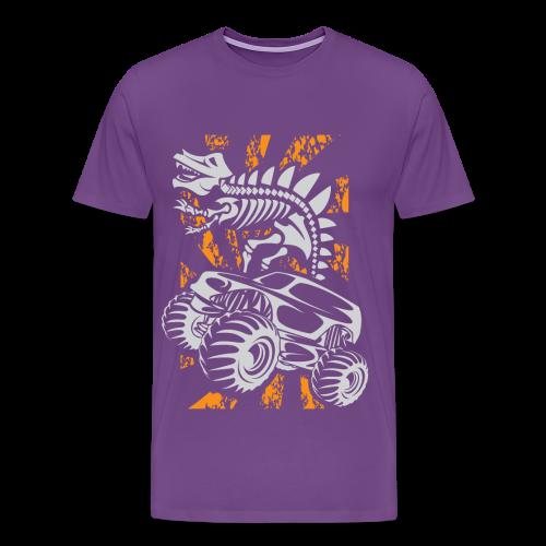 Monster Truck Dino - Men's Premium T-Shirt