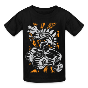 Monster Truck Dino - Kids' T-Shirt