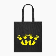 Twins hands and feet Bags & backpacks