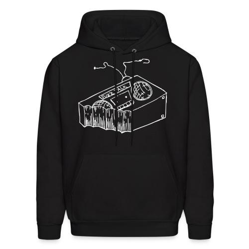 FTR Hoodie w/ White Logo - Men's Hoodie