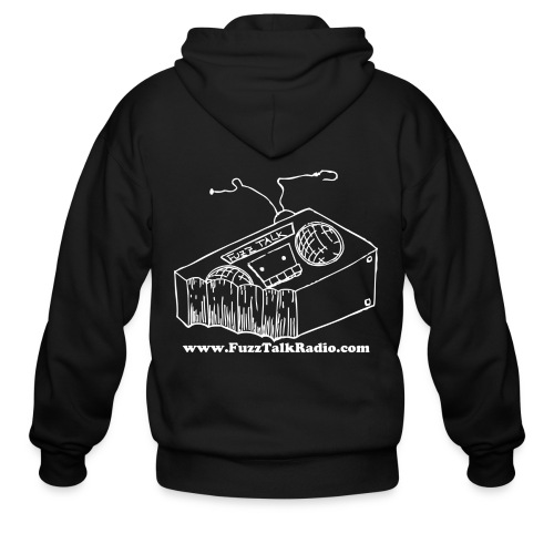 FTR ZippUp White Logo w/ Web Address - Men's Zip Hoodie
