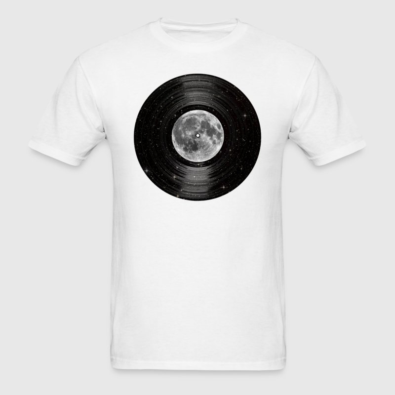 Moon In Space Vinyl LP Record T-Shirts - Men's T-Shirt
