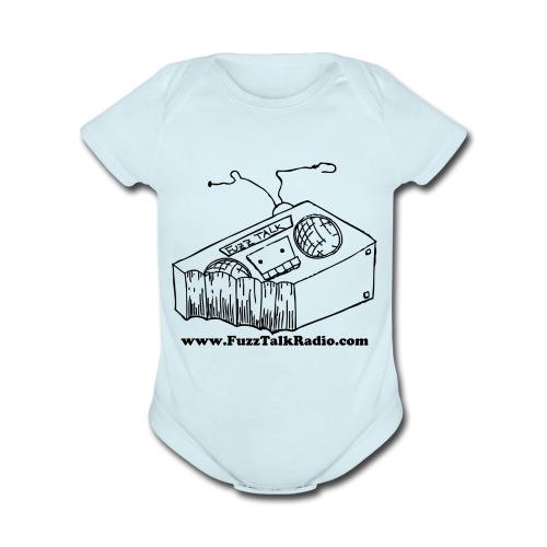FTR Black Logo w/ WebAddress - Organic Short Sleeve Baby Bodysuit