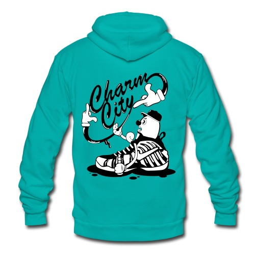 Charm City Foam  - Unisex Fleece Zip Hoodie
