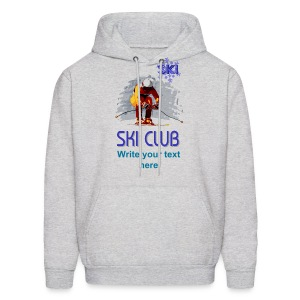 Ski Club Men's Hooded Sweatshirt - Men's Hoodie