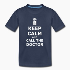 keep calm and call the doctor Kids' Shirts