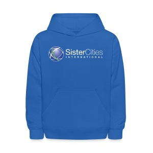 Kids' Hooded Sweatshirt w/ Sister Cities International WHITE Logo - Kids' Hoodie
