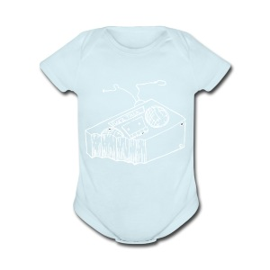 FTR White Logo - Short Sleeve Baby Bodysuit