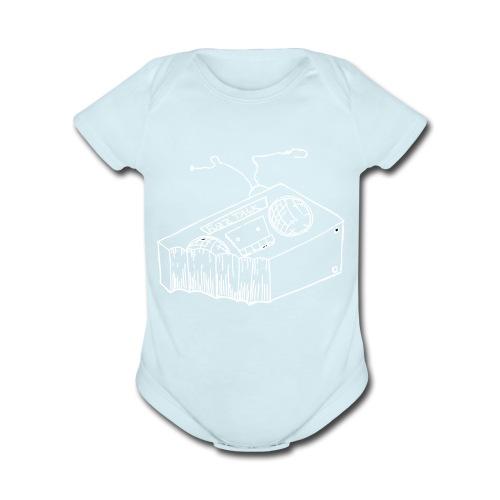 FTR White Logo - Organic Short Sleeve Baby Bodysuit